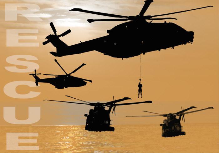 24 Brosses d'hélicoptère de sauvetage
