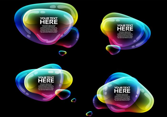 Iridescent Speech Bubbles PSD Pack