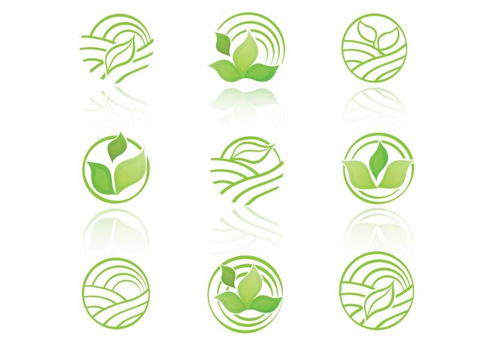Collection PSD Green Eco Icons
