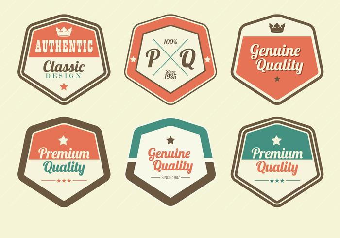 Retro Premium Label PSD Pack