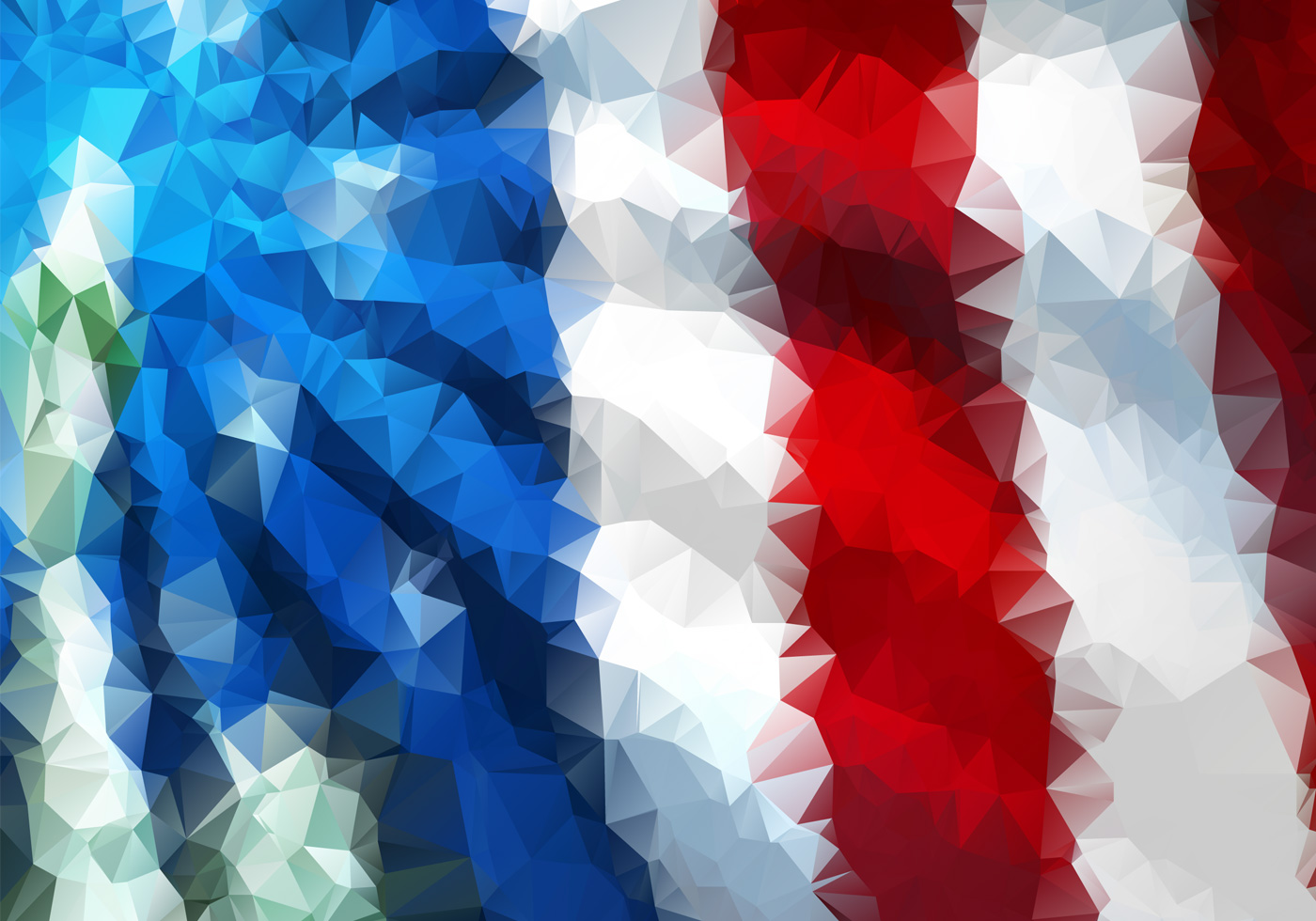 polygonal american flag background psd two