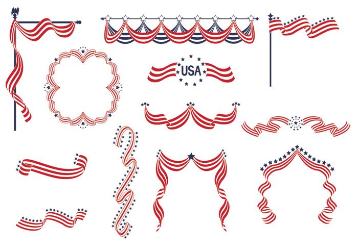 Usa band banner psd pack