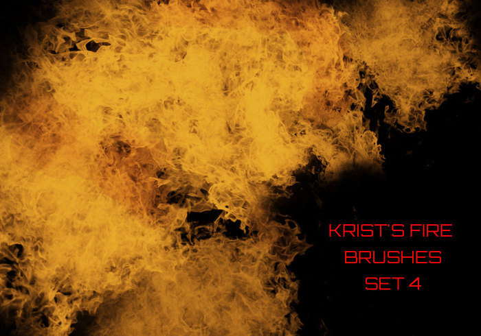 Krist's Fire Brushes Set 4