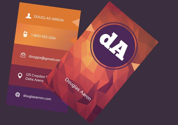 Polygonal business card psd template free photoshop brushes at polygonal business card psd template fbccfo