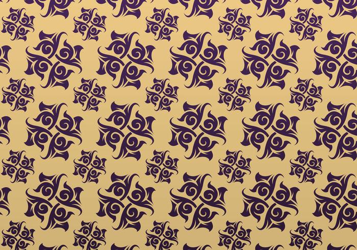 Roxo e dourado Ornamentado Patterned Background