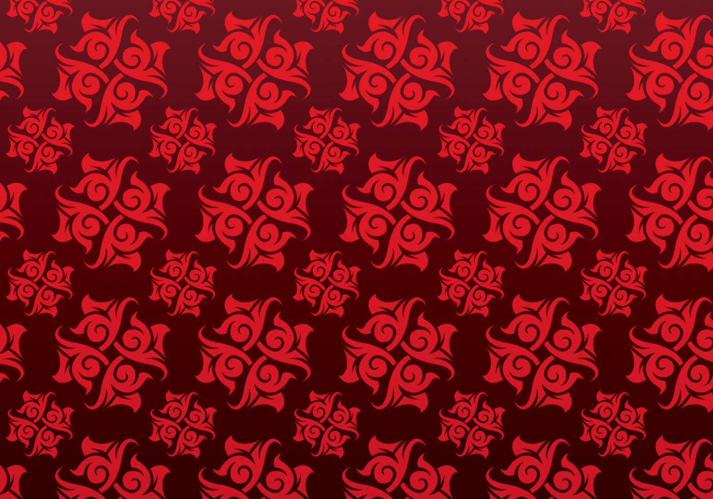 red ornamental patterned background psd
