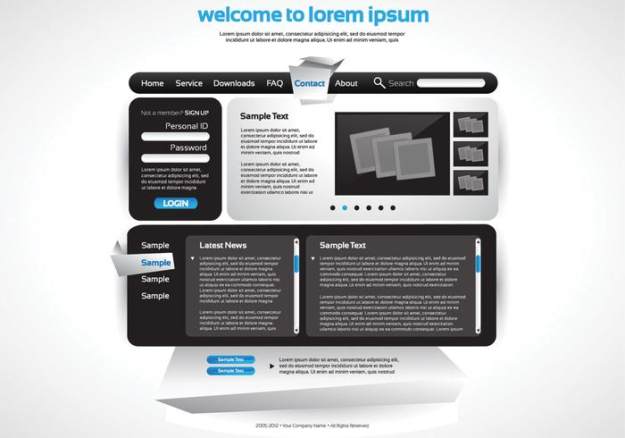 Sleek Website PSD Vorlage