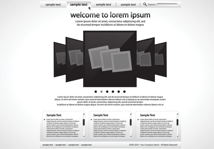 Sleek Black and White Website PSD Template