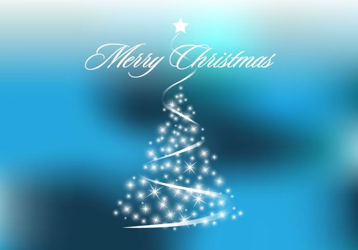 Blue Sparkly Christmas Tree PSD