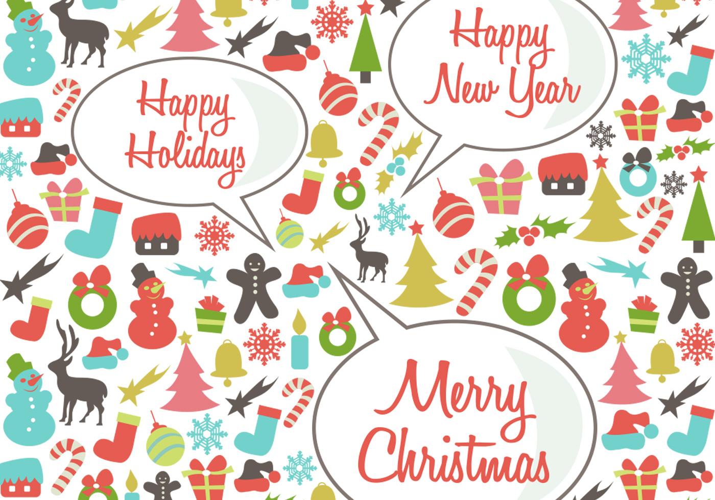 Wallpaper Happy Holidays Hd Celebrations Christmas 5116: Retro Happy Holidays PSD Background