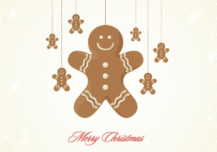 Gingerbread Cookie Christmas PSD Fond d'écran