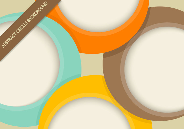 Abstract Circles Background PSD