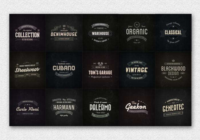 15 Logo PSD de badge vintage