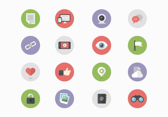 16 Ícones de mídia social PSDs