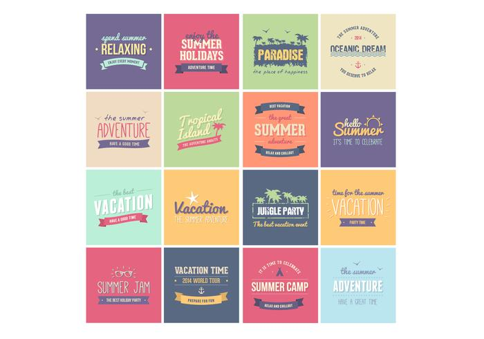 Zomer Badges PSD Pack