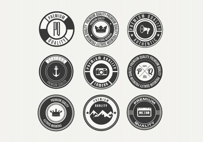 Diverse Retro Premium Badge PSD's