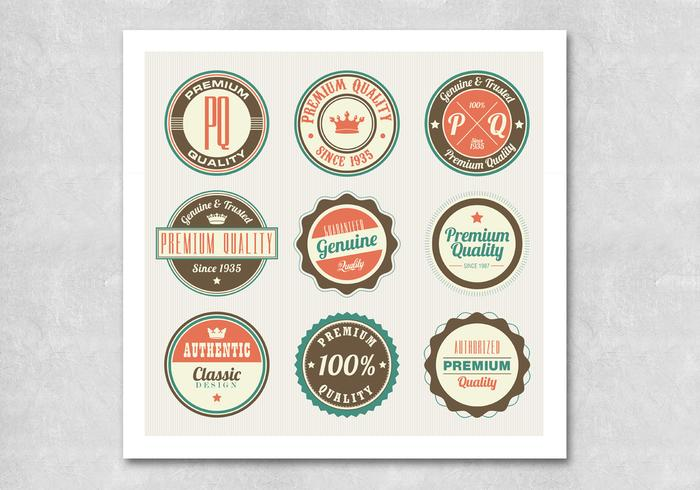 Circular Retro Premium Badge PSDs