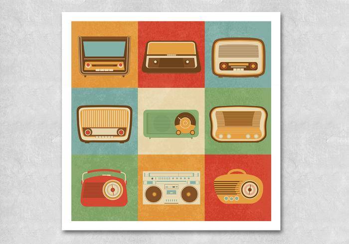 Retro radio psd pack