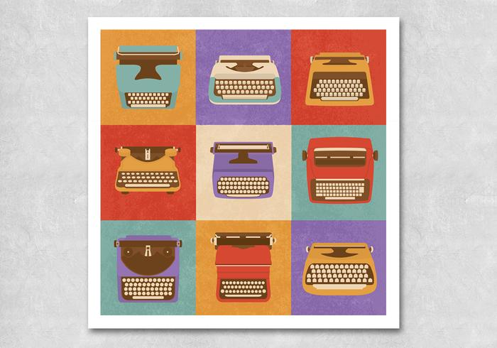Retro Typewriter PSD Pack