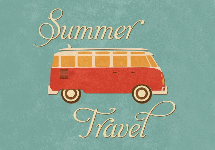 Summer Travel Wallpaper PSD