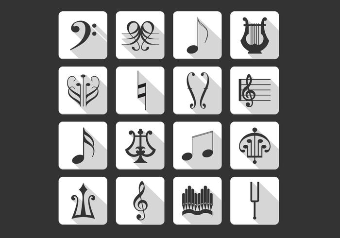 Music Symbols Icons PSD Pack