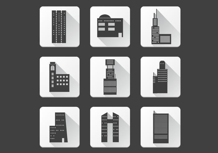 Office Building Icons PSD Pack