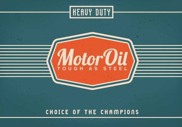 Vintage Motor Oil Background PSD