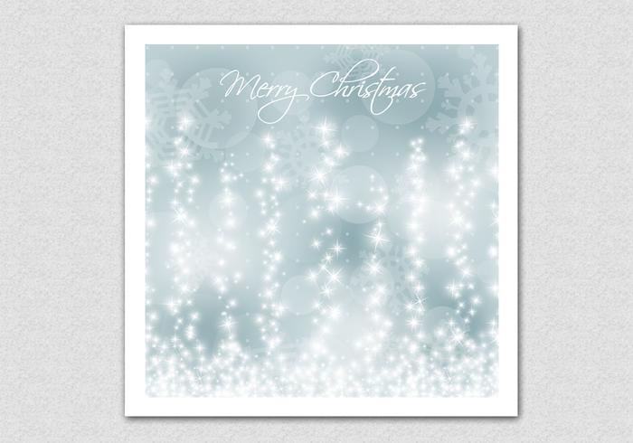Gloeiende Sneeuwvlok Kerst Achtergrond