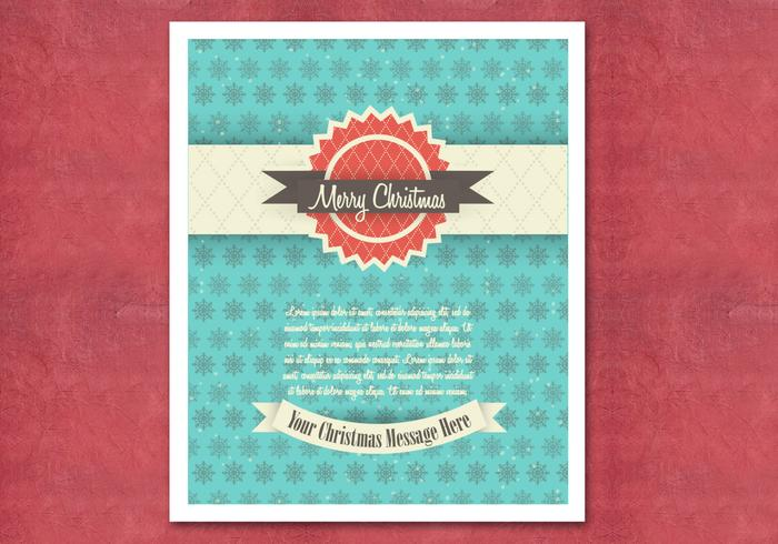 Retro Christmas Card PSD
