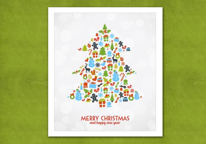 Bokeh Árbol de Navidad PSD Antecedentes
