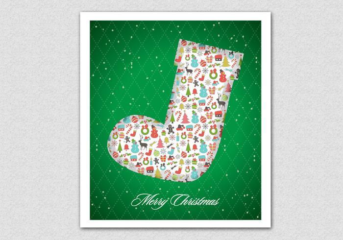Contexto PSD de padrão de Natal com padrões verdes