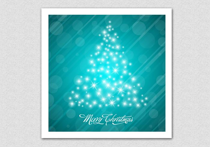 Glowing Bokeh Christmas Tree PSD Background