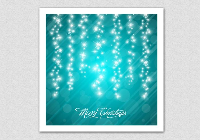Teal Sparkling Chrismtas PSD Background