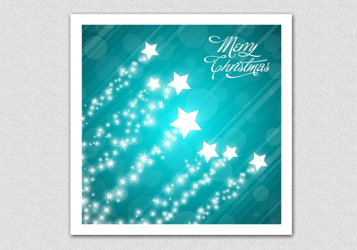 Fundo do PSD da Merry Christmas Star de Teal