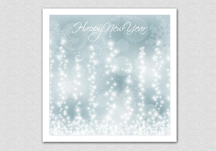 Sparkling Bokeh New Year Background