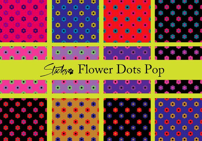 Flor polka dots padrão pop