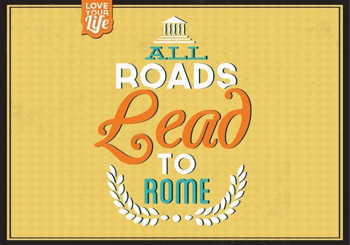 Alle Wegen Leid naar Rome PSD Achtergrond