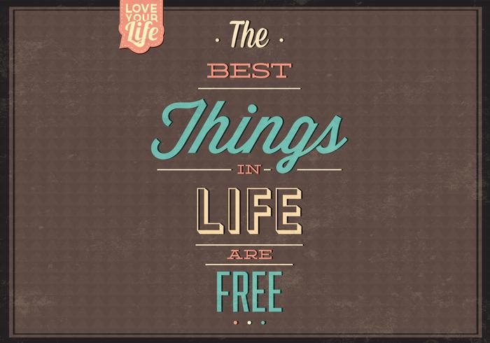 Best Things Are Free PSD Background