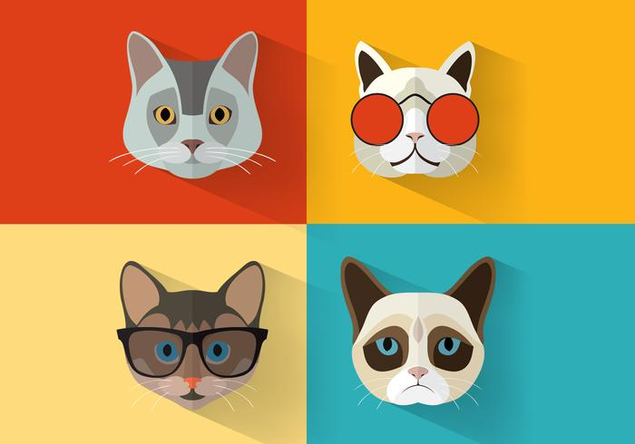 Portraits de chat PSD