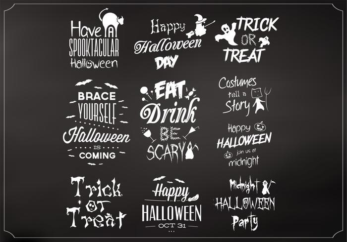 Chalkboard Halloween Elements PSD