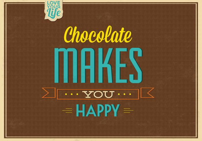 Chocolade maakt u gelukkige PSD-achtergrond