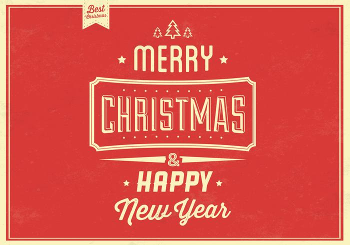 Retro Christmas PSD Background