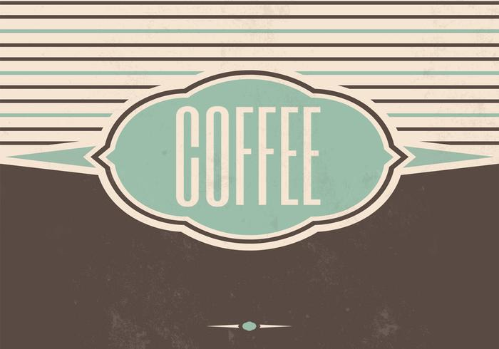 Fundo do PSD do Vintage Coffee