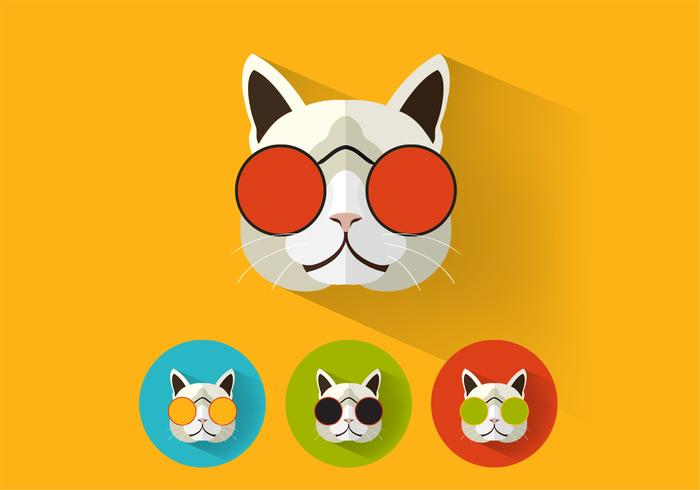 Iconos de gato Cool PSD Pack