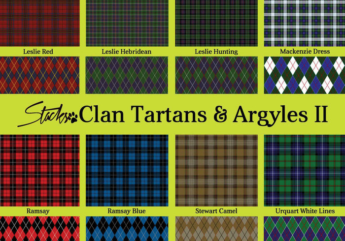 Escocés Clan Tartans & Argyle Patterns II