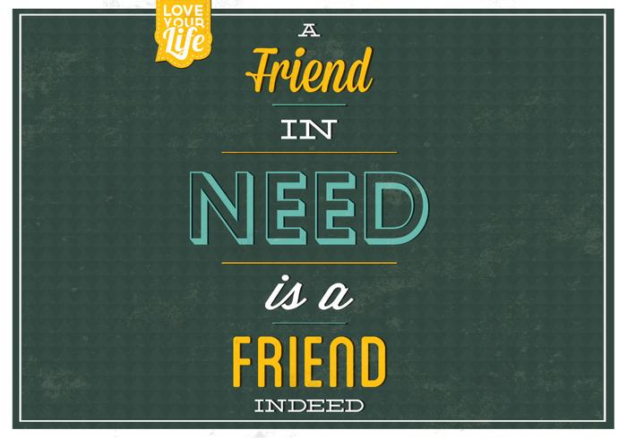 A Friend In Need PSD Background