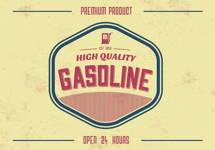 Antecedentes do PSD de gasolina de alta qualidade vintage