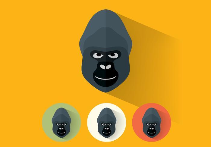 Gorilla psd porträts