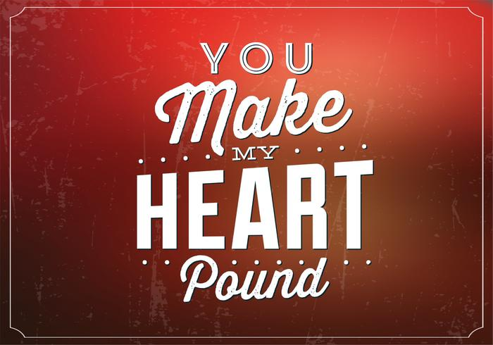 You Make My Heart Pound PSD Background