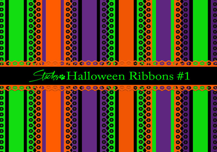 Halloween Ribbons Background #1